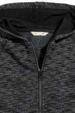 Hooded jacket - Dark grey marl - Kids | H&M CN 3